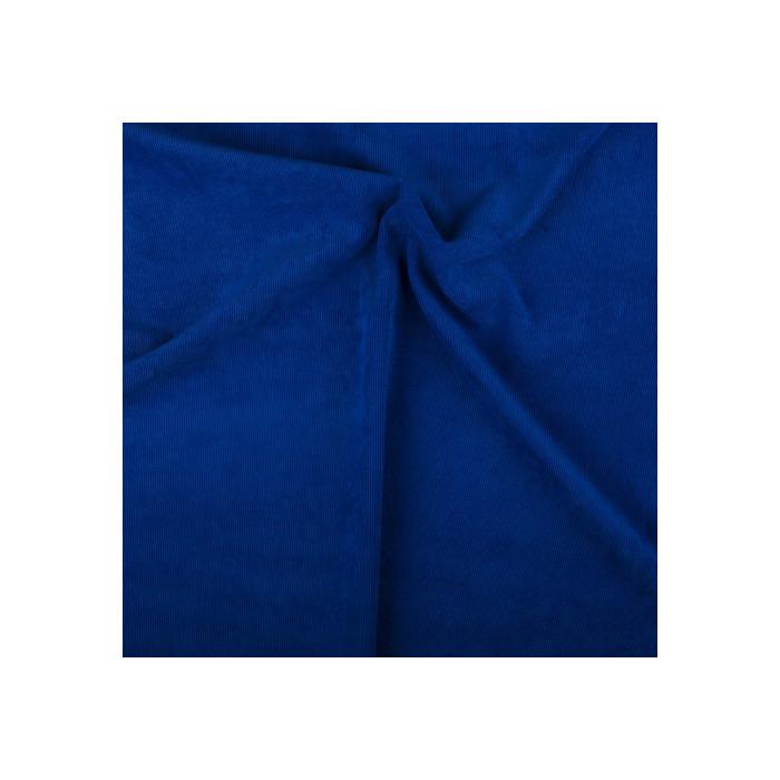 Velours milleraies stretch bleu roi