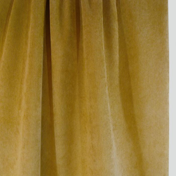 Velours milleraies stretch moutarde x 10 cm