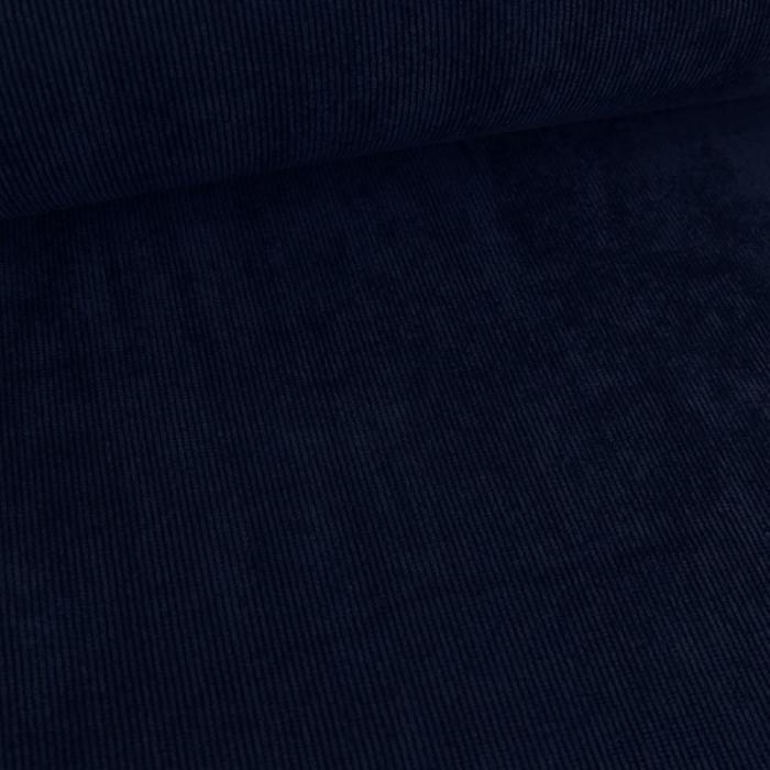 Velours milleraies stretch bleu marine x 10 cm