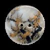 Bouton 2 trous en nacre 25mm motif floral