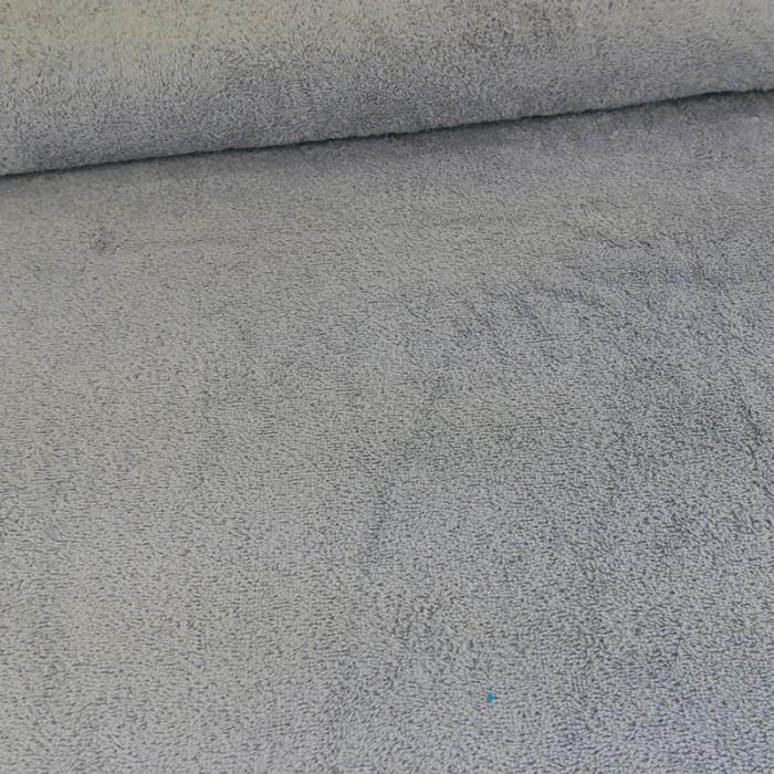 Tissu éponge gris perle x 10 cm
