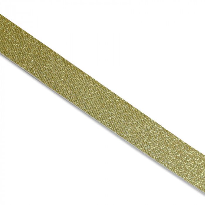 Élastique lurex blanc or  x 10 cm