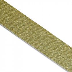Élastique blanc lurex doré