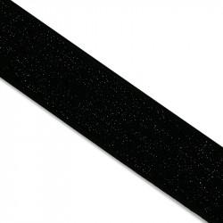 Élastique noir lurex noir