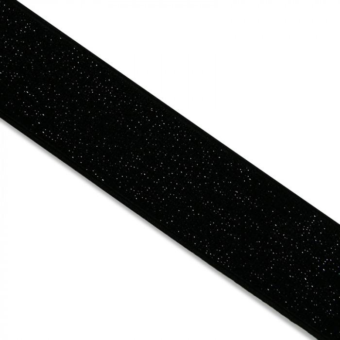 Élastique noir lurex noir  x 10 cm