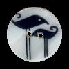 Bouton 2 trous en nacre 25mm motif oiseau