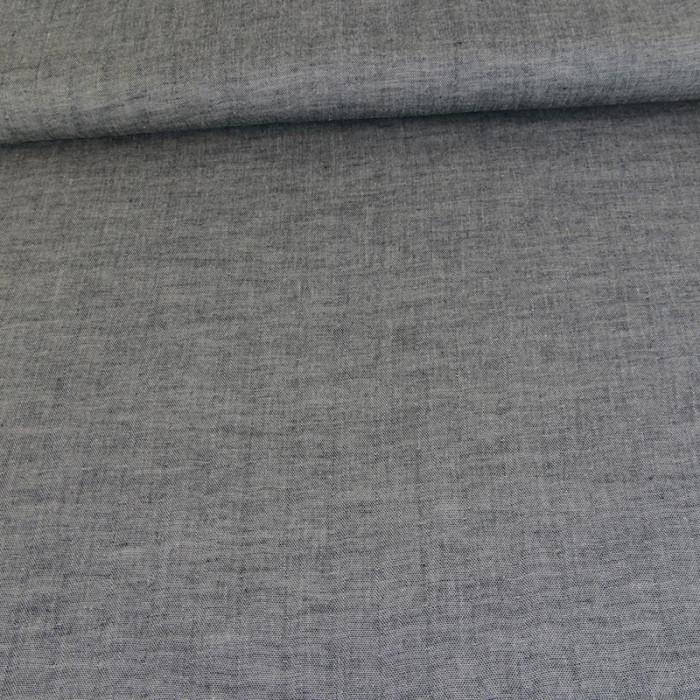 Tissu japonais double gaze - noir x 10 cm