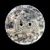 Bouton 2 trous en nacre 25mm motif biche