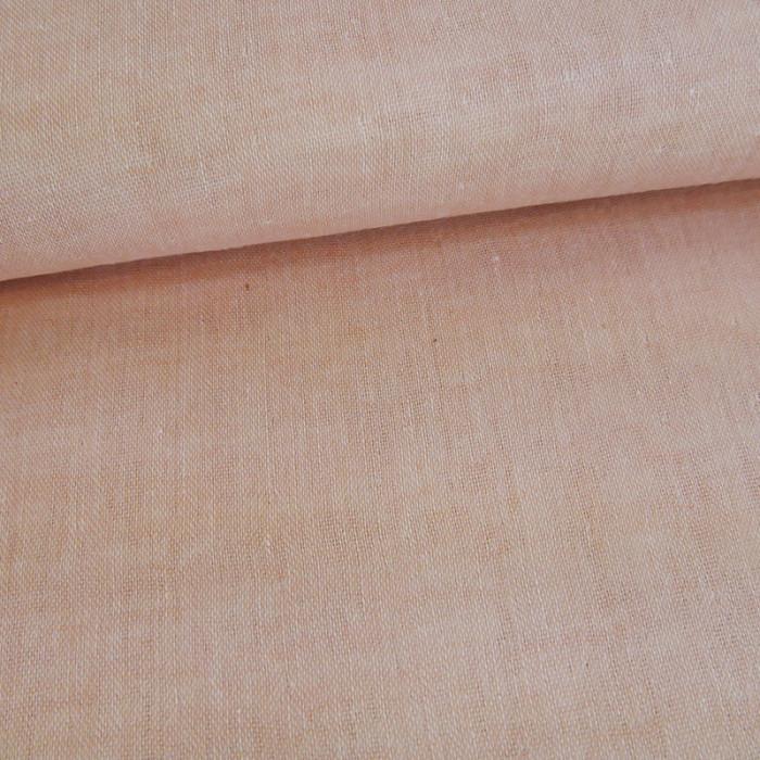 Tissu japonais double gaze - rose saumon x 10 cm