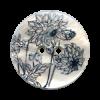 Bouton 2 trous en nacre 25mm motif fleurs