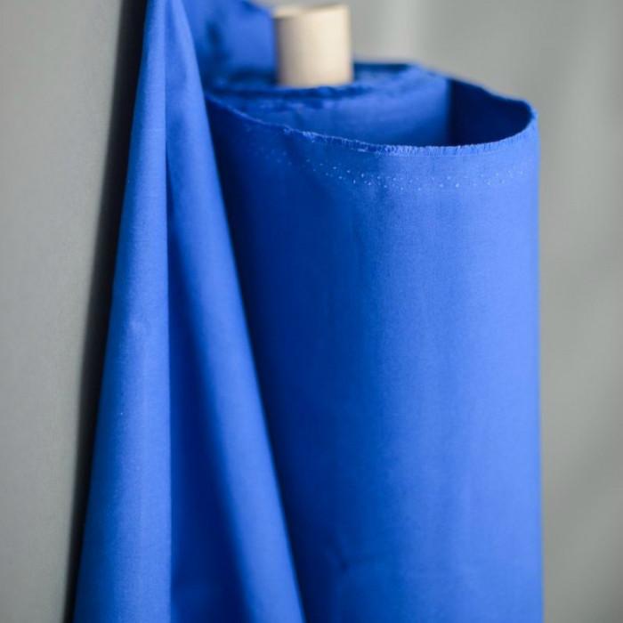 Tissu coton huilé Merchant and Mill - bleu x 10 cm
