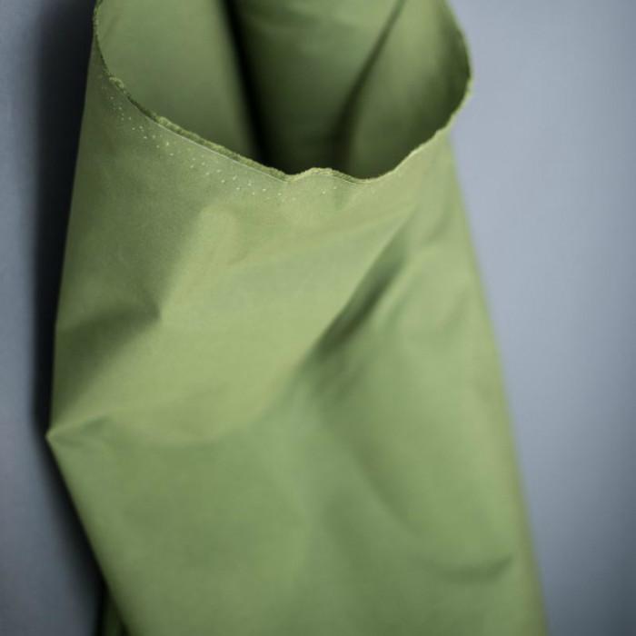 Tissu coton huilé Merchant and Mill - vert x 10 cm