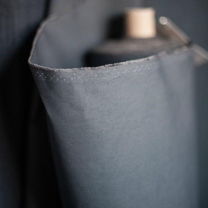 Tissu coton huilé Merchant and Mill - gris x 10 cm
