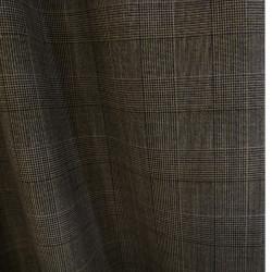 Tissu lainage prince de Galles - marron x 10 cm