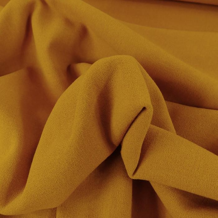 Tissu crêpe stretch - ocre x 10 cm
