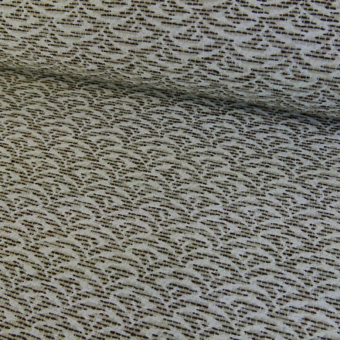 Tissu jacquard - beige x 10 cm