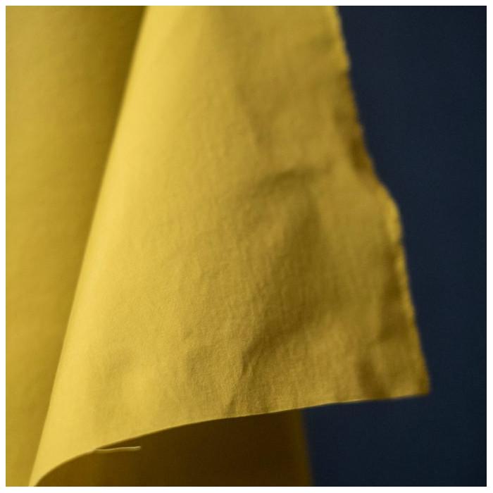 Tissu coton huilé Merchant and Mill - jaune x 10 cm