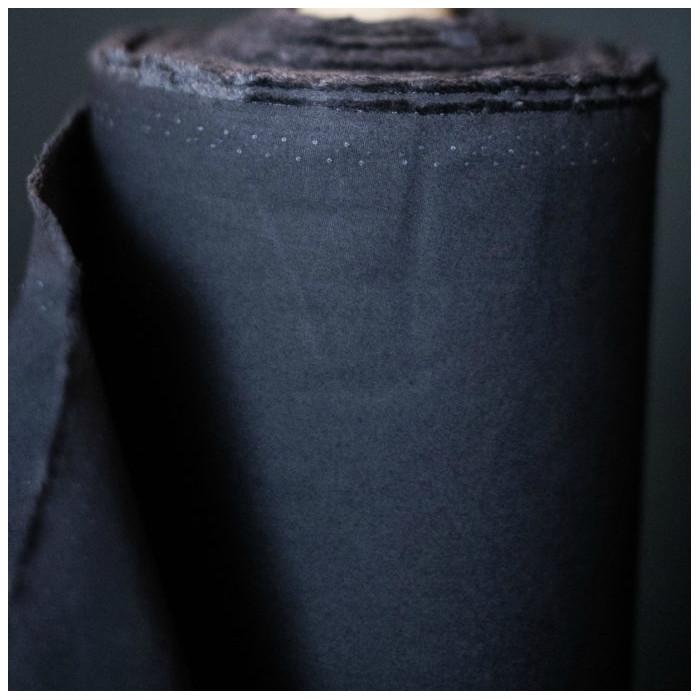 Tissu coton huilé Merchant and Mill - navy x 10 cm