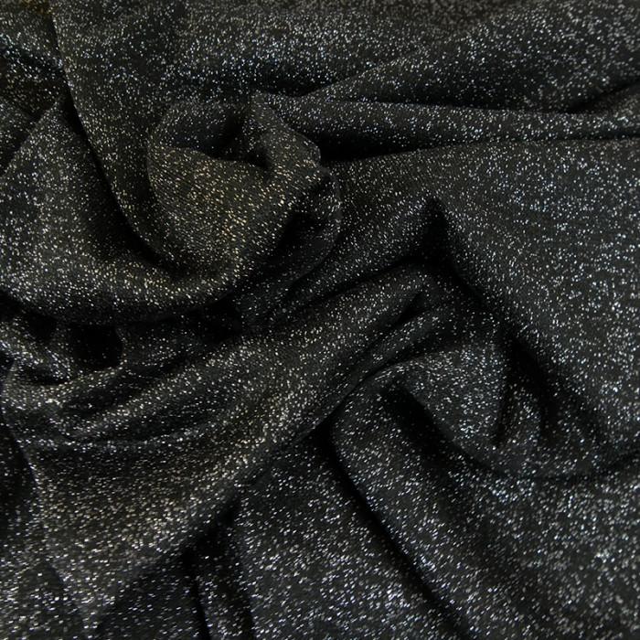 Tissu jersey maille lurex - gris x 10 cm