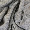 Tissu jersey maille lurex - gris clair x 10 cm