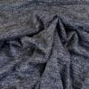 Tissu jersey maille lurex - bleu x 10 cm