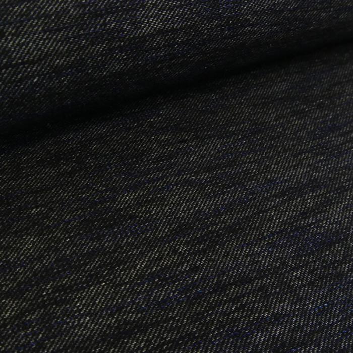 Tissu jersey viscose élasthane denim - navy x 10 cm