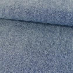 Tissu toile de coton - bleu