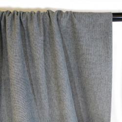 Tissu toile de coton - gris x 10 cm
