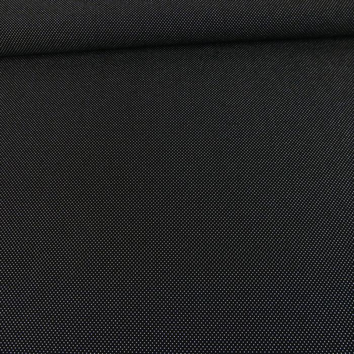 Tissu crêpe viscose pois - noir x 10 cm