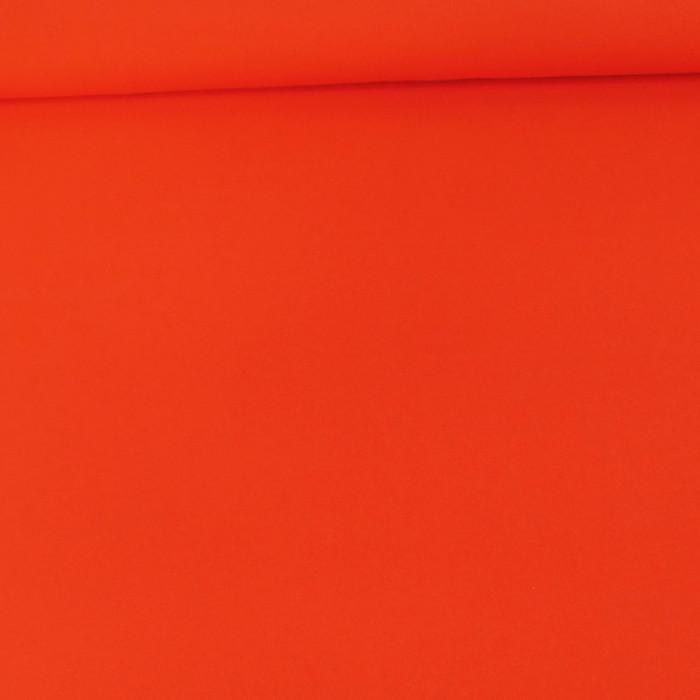 Tissu Crêpe viscose - orange corail x 10 cm