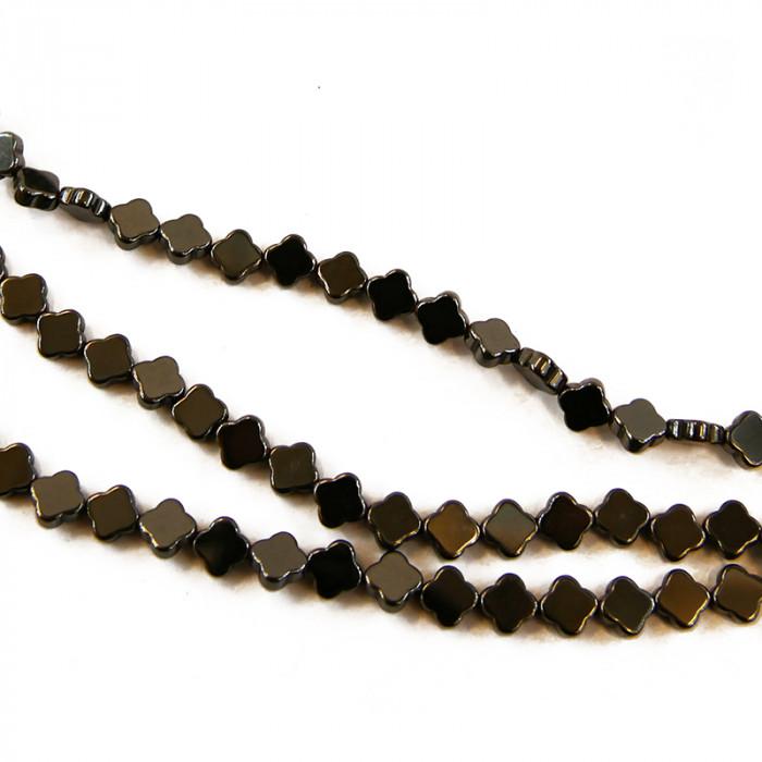 Perle hématite trèfle 6mm x1