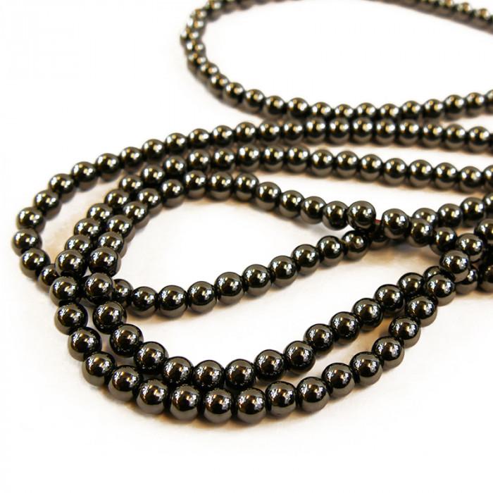 Perle hématite ronde 5 à 9mm x1
