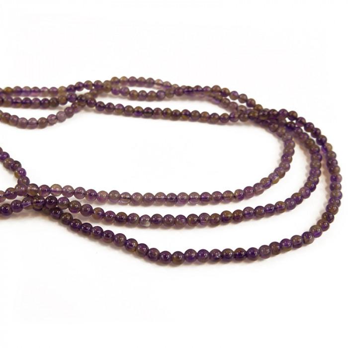 Perle améthyste ronde 4 à 10mm x1