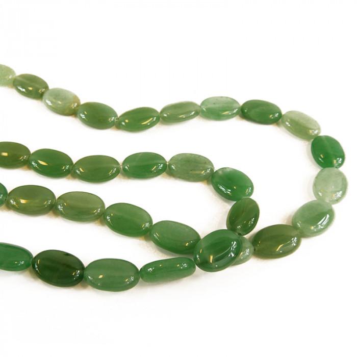 Perle pastille ovale jade 18 mm x1