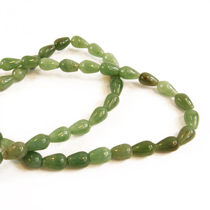 Perle goutte jade 13 à 14 mm x1