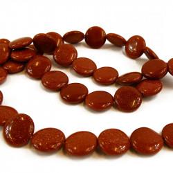 perle pastille goldstone 18 mm