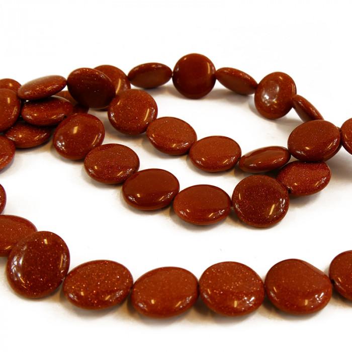 Perle pastille goldstone 10 à 18 mm x1