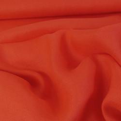 tissu Crêpe lin - Corail x 10 cm