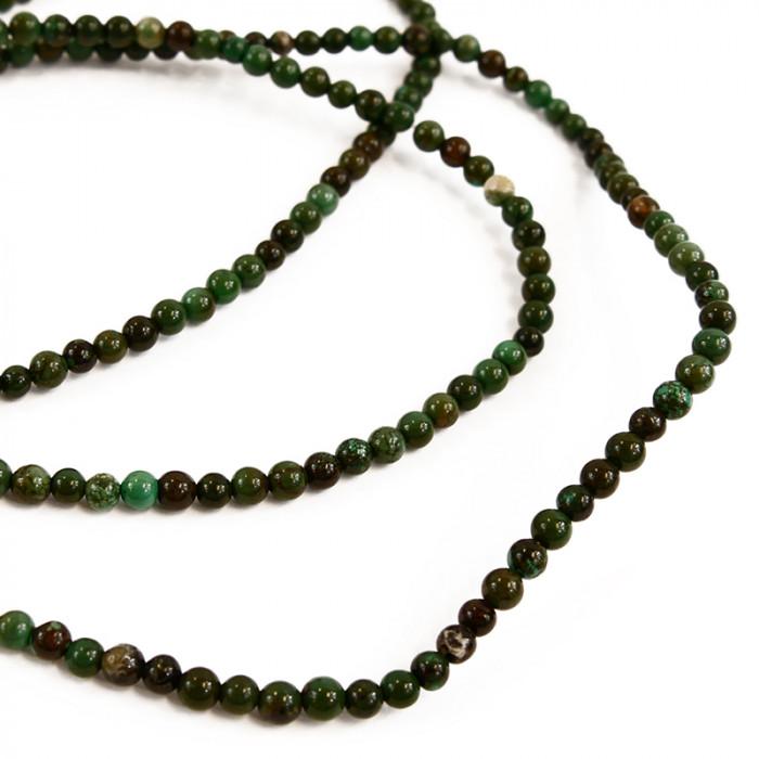 Perle turquoise verte 4 à 6 mm x1