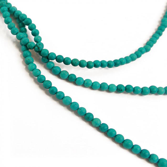 Perle turquoise bleue 4 à 6 mm x1