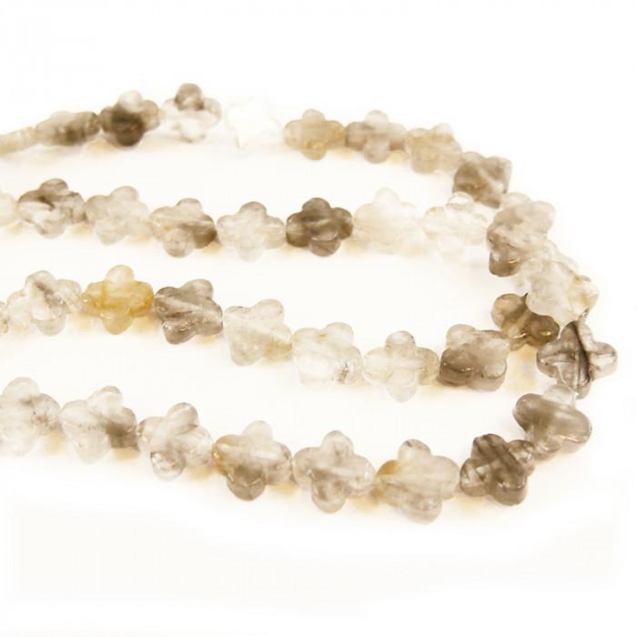 Perle trèfle en quartz 14mm x1
