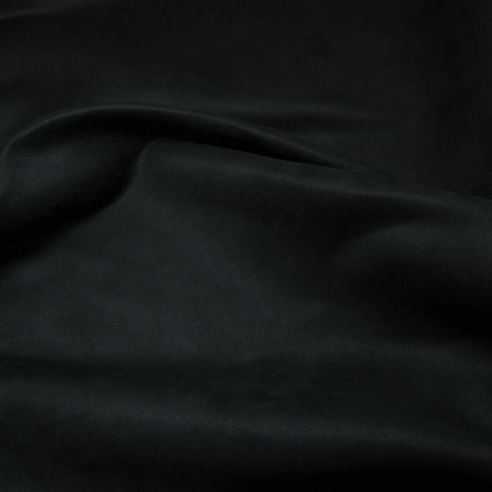 Tissu Suédine - Encre x 10 cm