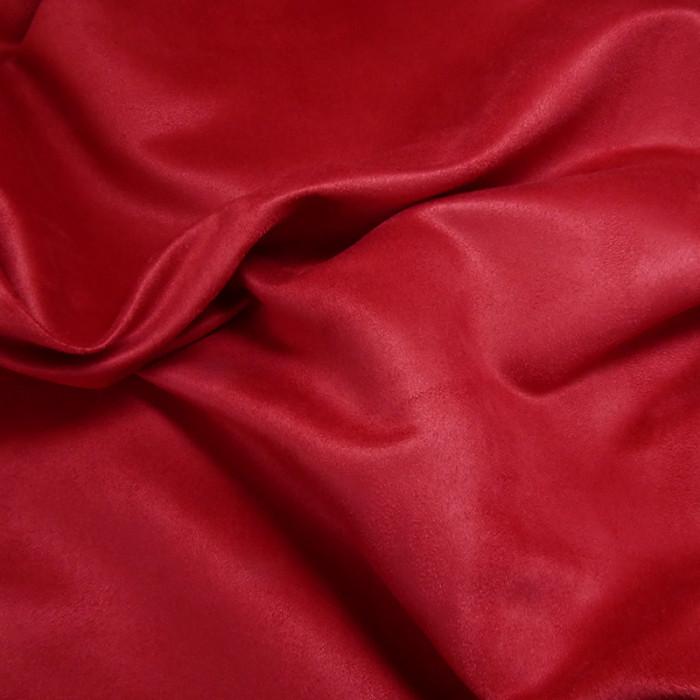 Tissu Suédine - Tomate x 10 cm