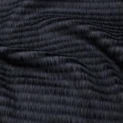 Tissu fausse fourrure - bleu x 10 cm