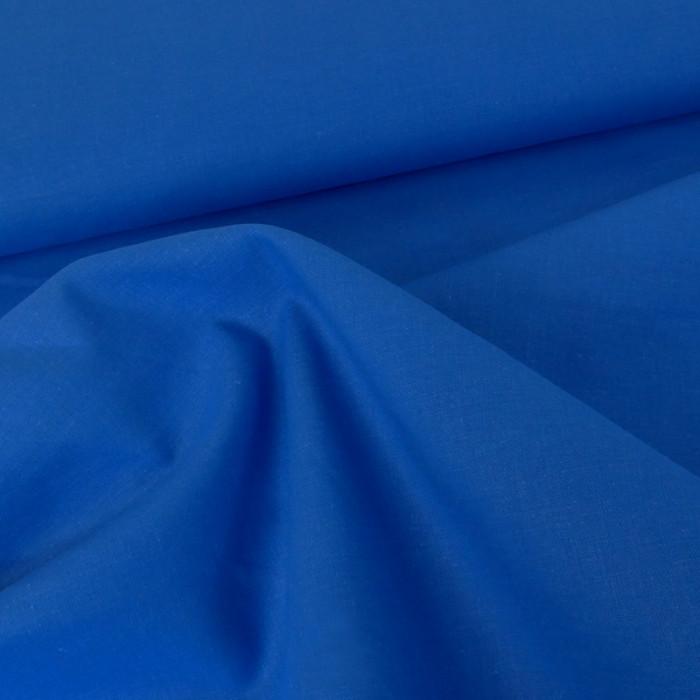 Tissu coton uni - bleu gauloise x 10 cm