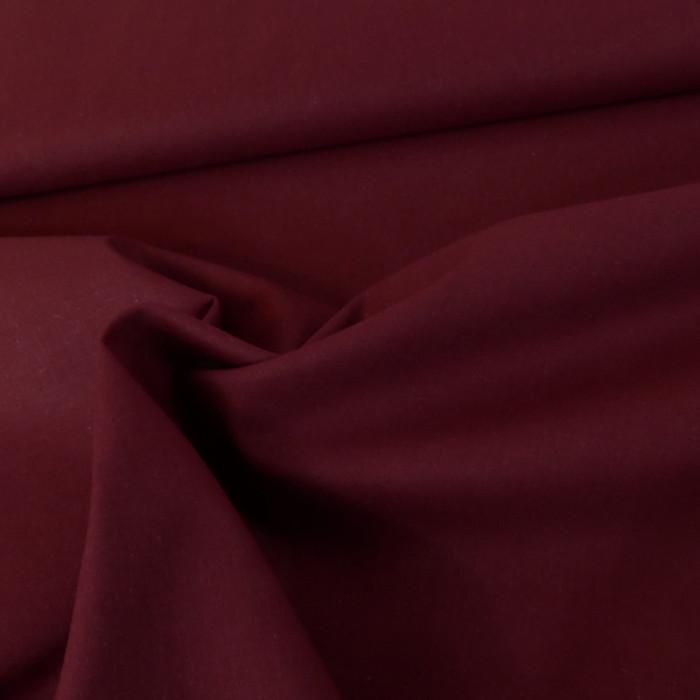 Tissu coton uni - prune x 10 cm