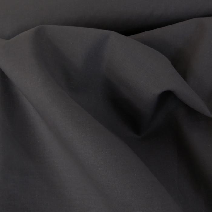 Tissu coton uni - gris anthracite x 10 cm
