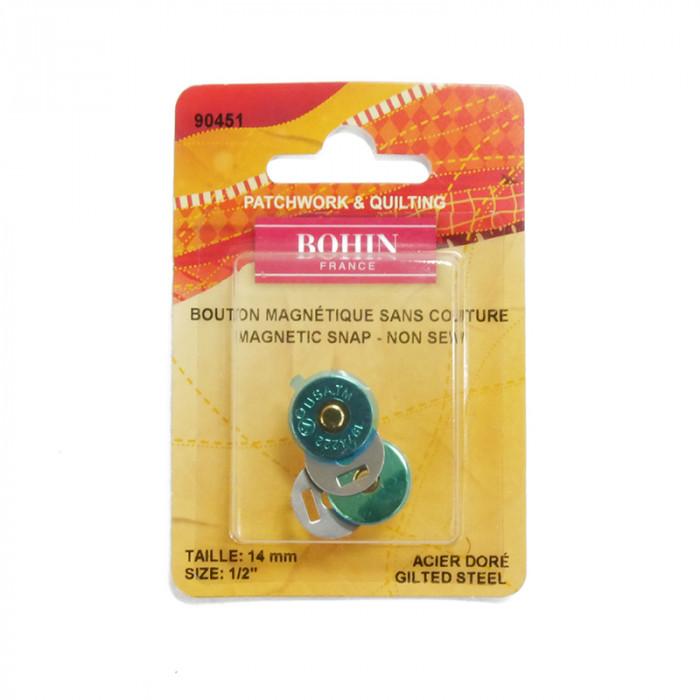 Bouton pression magnétique Bohin sans couture 14mm