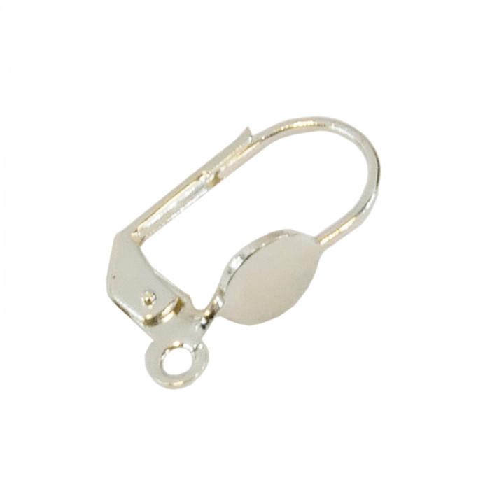 Boucles d'oreilles dormeuses plateau 6mm argent x8