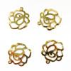 Breloque fleurs 14mm doré x1
